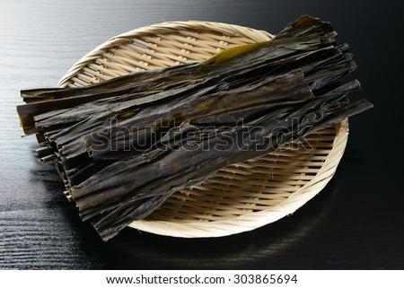 konbu,Japanese kelp - stock photo