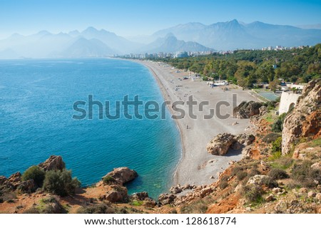 Konyaalti beach, Antalya - stock photo