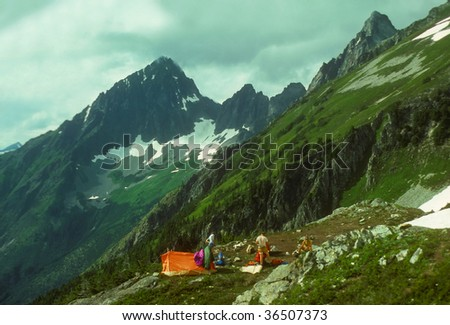 KoolAid Lake campsite on the Ptarmigan traverse,		Cascades	Washington