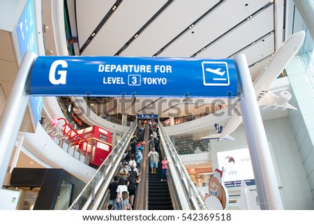 KORAT - THAILAND - December 24, 2016: Unidentified people participants of the theater together intensively in Terminal 21 . This place is very famous shopping mall