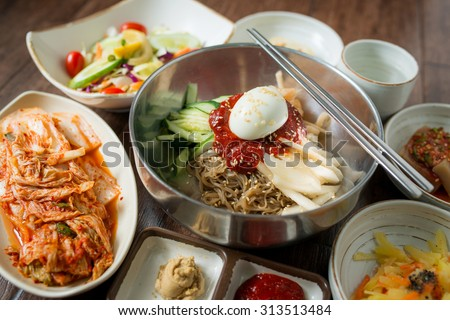 Korea food - stock photo