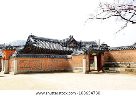 Korea house - stock photo
