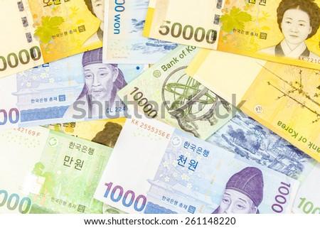 Korea money  - stock photo
