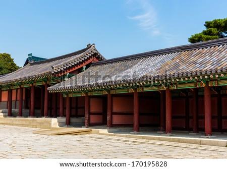 Korean ancient architecture - stock photo