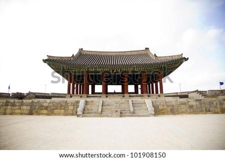 Korean architecture - stock photo
