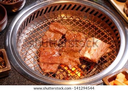 Korean beef barbecue - stock photo