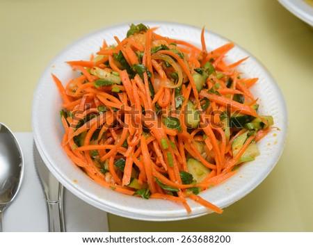 Korean carrot salad - stock photo