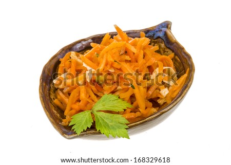 Korean carrot with parsley