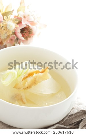 Korean cuisine, dried pollack and radish soup Bukeoguk - stock photo