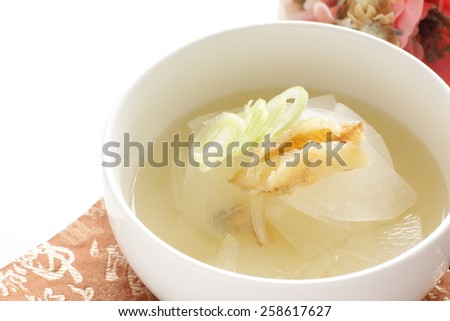 Korean cuisine, dried pollack and radish soup Bukeoguk