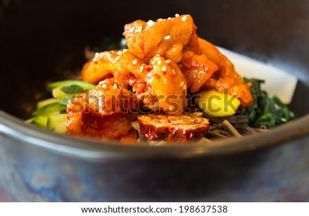 Korean cuisine with mash closeup - stock photo