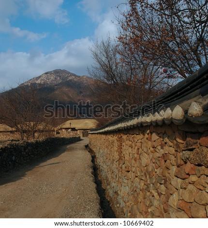 korean folk village - stock photo