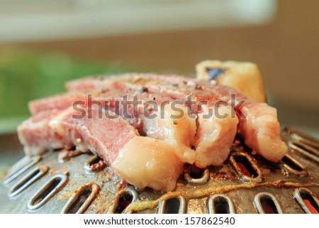 Korean grilled beef - stock photo
