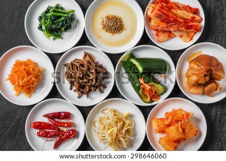 Korean pickle group photo - stock photo