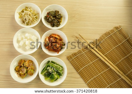 Korean side dishes - stock photo