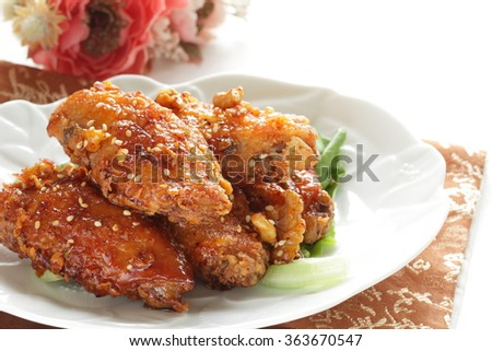 Korean spicy fried chicken Dakgangjeong