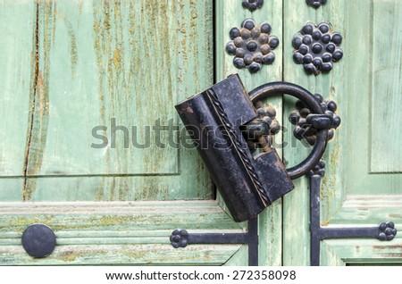 Korean traditional padlock - stock photo