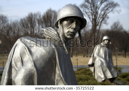 korean war memorial - stock photo