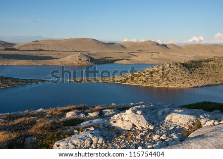 Kornati islands in Croatia, Adriatic sea - stock photo