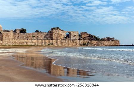 Korykos Castle Roman gate - stock photo