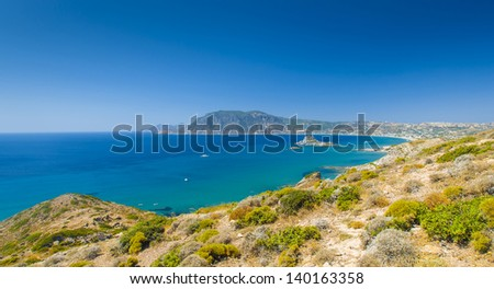 Kos Island, Greece, Kefalos bay sea turquoise - stock photo