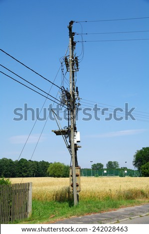 KOSMIDRY, POLAND - July 27, 2013. Station of power supply