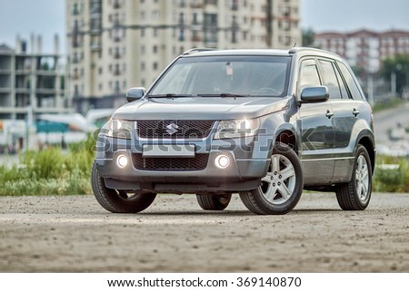 KOSTANAY Summer 2015: Street photoshoot car Suzuki Grand Vitara - stock photo