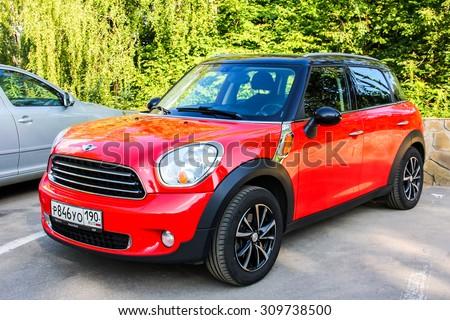 KOSTROMA, RUSSIA - JULY 23, 2014: Motor car Mini Cooper Countryman at the city street. - stock photo