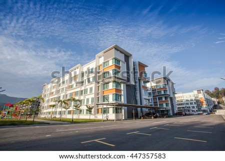 Kota Kinabalu Malaysia - July 4, 2016: UUC are a new apartment project ready for phase two and three in Kota Kinabalu, Sabah, Malaysia. It is interesting to potential real estate owned.