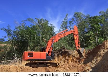 KOTA KINABALU, MALAYSIA - 07 JUNE 2016: Deforestation. Environmental destruction of Borneo rainforest to convert land to oil palm plantations. - stock photo
