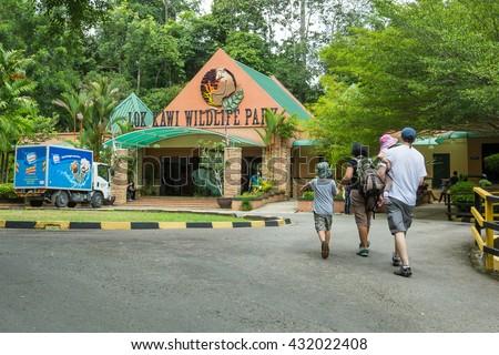 Kota Kinabalu Sabah Malaysia - June 4, 2016:People visiting Lok Kawi Zoo in Kota Kinabalu Sabah.The zoo is a treatment and rehabilitation centre for Sabah endengered animal like Orang Utan. - stock photo