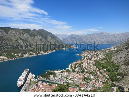 Kotor city by Adraitic sea view of Montenegro