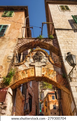 Kotor Old Town architecture details - stock photo