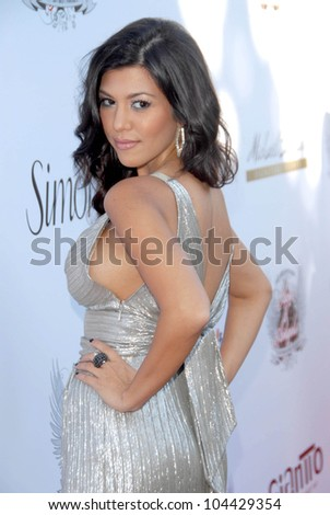 Kourtney Kardashian  at the Aces and Angels Celebrity Poker Party. Playboy Mansion, Beverly Hills, CA 07-11-09 - stock photo