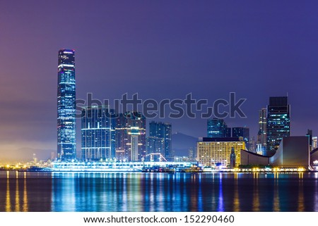 Kowloon downtown district in Hong Kong