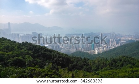 Kowloon view from Lion rock country park, Hong Kong