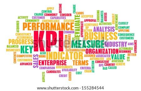KPI or Key Performance Indicator as Concept  - stock photo
