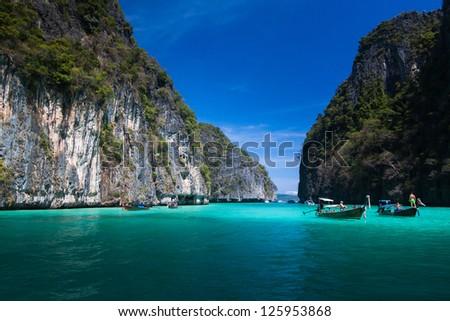Krabi  Phi Phi Leh south of Thailand - stock photo