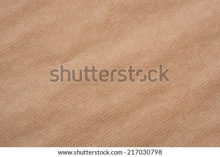 kraft paper texture or background with diagonal lines  - stock photo