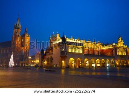 Krakow Market Square, Poland - stock photo