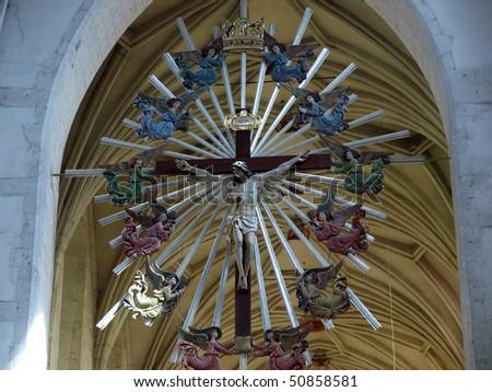 Krakow - St. Catherine's church interior - stock photo