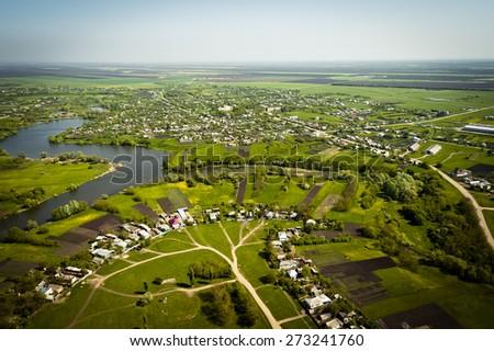 Krasnodar region, top view - stock photo