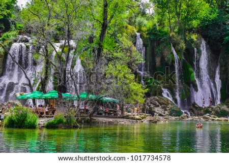 Kravica, Bosnia and Herzegovina - 18 August 2015: Kravica waterfalls