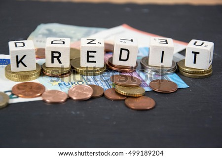 Kredit - the german word for credit
