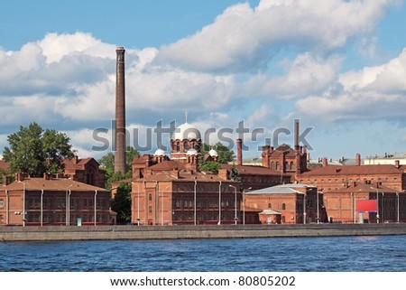 Kresty Prison building, city landscape, St.-Petersburg Russia - stock photo