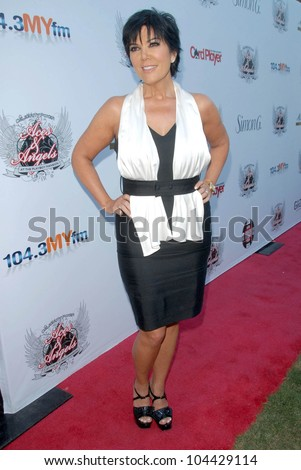 Kris Jenner  at the Aces and Angels Celebrity Poker Party. Playboy Mansion, Beverly Hills, CA 07-11-09 - stock photo