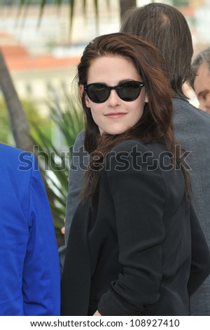 """Kristen Stewart at the photocall for her new movie """"On The Road"""" in competition at the 65th Festival de Cannes. May 23, 2012  Cannes, France Picture: Paul Smith / Featureflash - stock photo"""