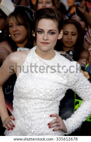 "Kristen Stewart at ""The Twilight Saga: Eclipse"" Los Angeles Premiere held at the Nokia Live Theater in Los Angeles, California, United States on June 24, 2010.   - stock photo"
