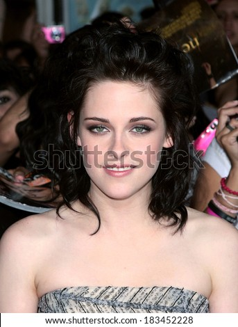 Kristen Stewart at THE TWILIGHT SAGA NEW MOON Premiere, Mann Village and Bruin Theaters, Los Angeles, CA November 16, 2009  - stock photo