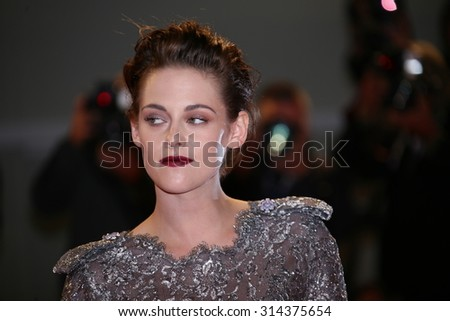 Kristen Stewart attends the premiere of 'Equals' during the 72nd Venice Film Festival at Sala Grande on September 5, 2015 in Venice, Italy. - stock photo